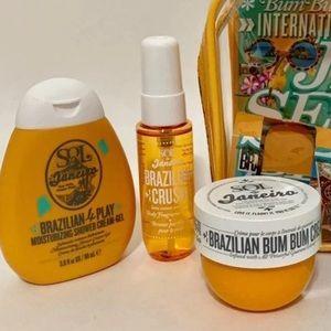 Sol de Janeiro bum bum cream, crush & 4play w case